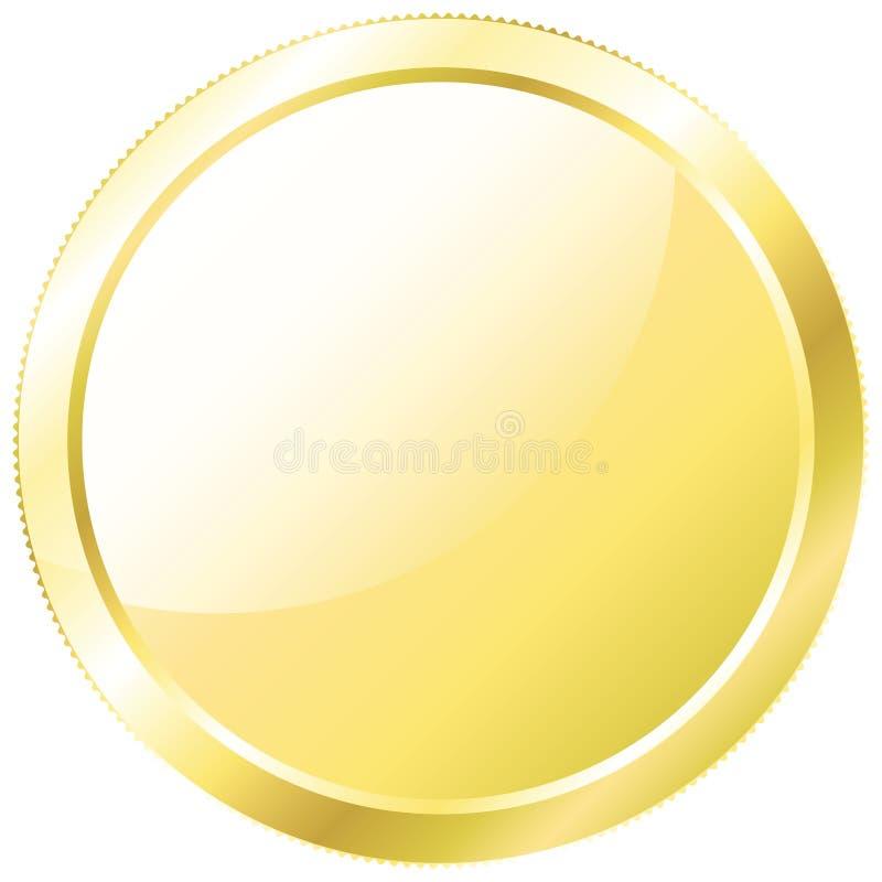 white för vektor för bakgrundsmyntguld illustration isolerad stock illustrationer