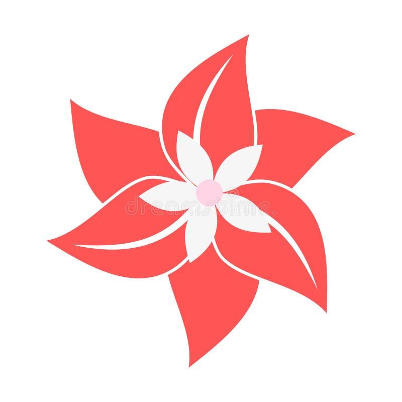 white för vektor för illustration för bakgrundsblommasymbol set vektor illustrationer