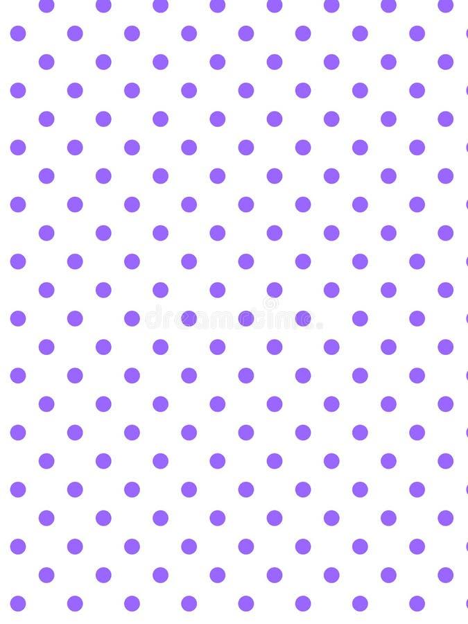 white för vektor för polka för bakgrundsprick eps8 purpur stock illustrationer