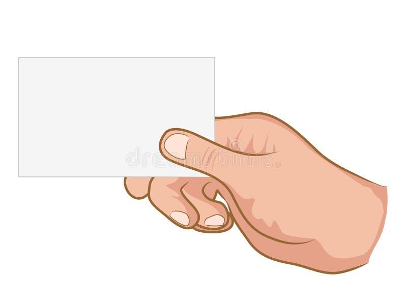 white för handholdingpapper vektor illustrationer