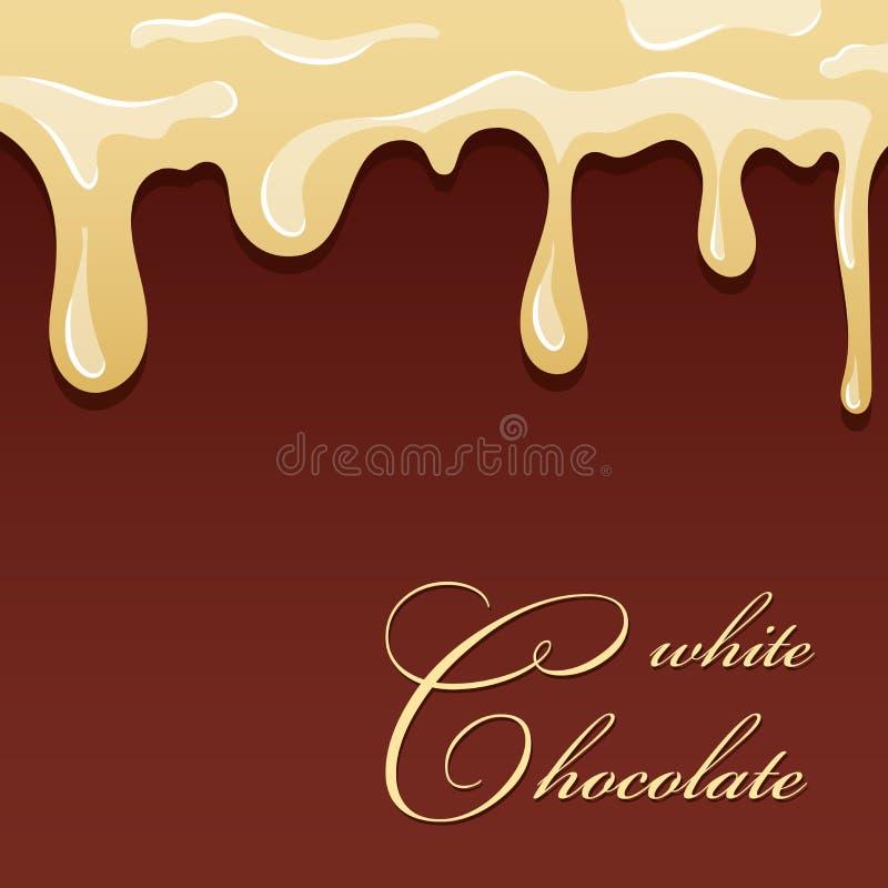 white f?r f?rgst?nk f?r bakgrundschokladillustration Vit isolerad brun bakgrund för choklad design Mat för fondant för nissegodis royaltyfri illustrationer