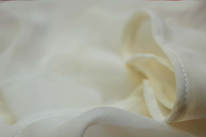 White fabric stock image