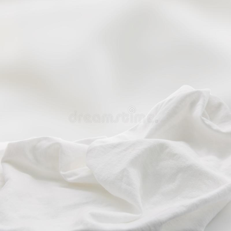 White fabric background. Soft textile or silk material. Texture royalty free stock photos