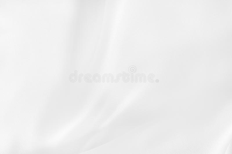 White fabric cloth texture for background and design art work, beautiful crumpled pattern of silk or linen royalty free stock photo