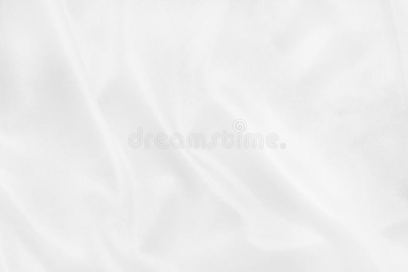 White fabric cloth texture for background and design art work, beautiful crumpled pattern of silk or linen royalty free stock photos