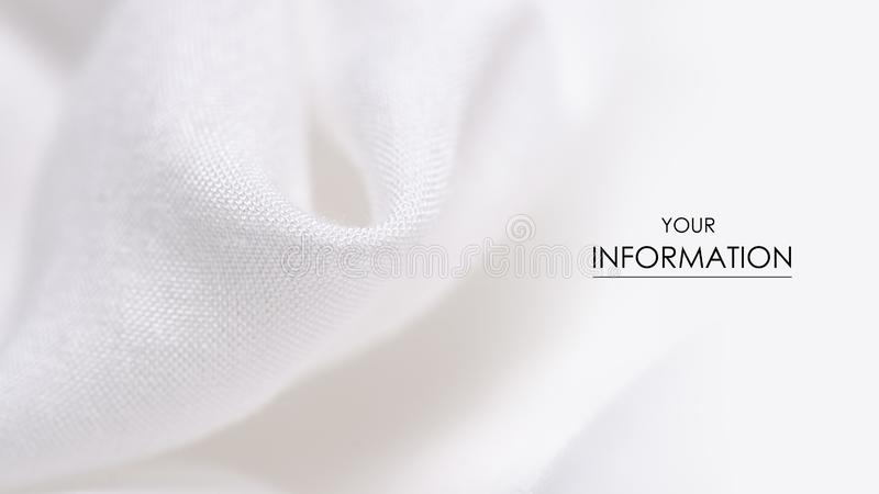 White fabric clothing texture textile pattern. Blur background stock photo
