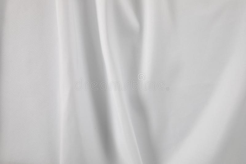 White fabric with folds stock photo
