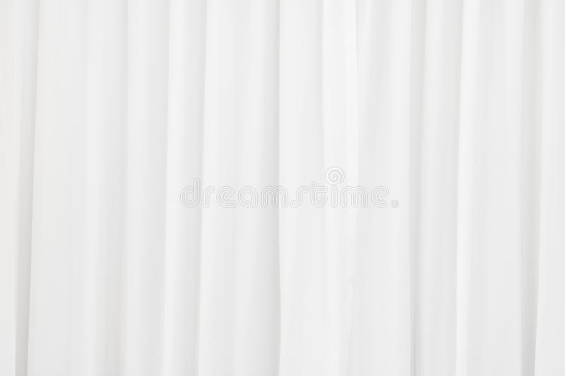 White fabric texture background. Crumpled of curtains material royalty free stock images