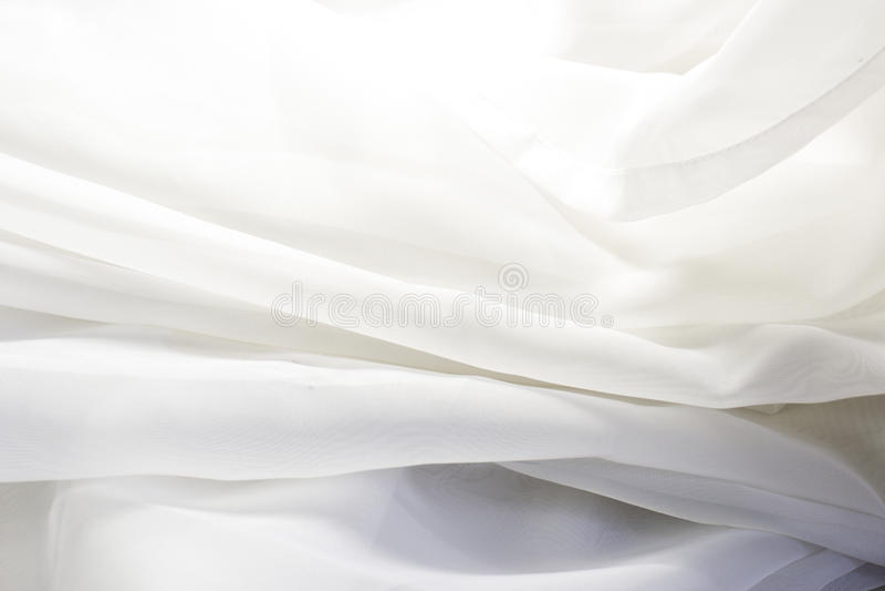 White fabric transparent stock photos