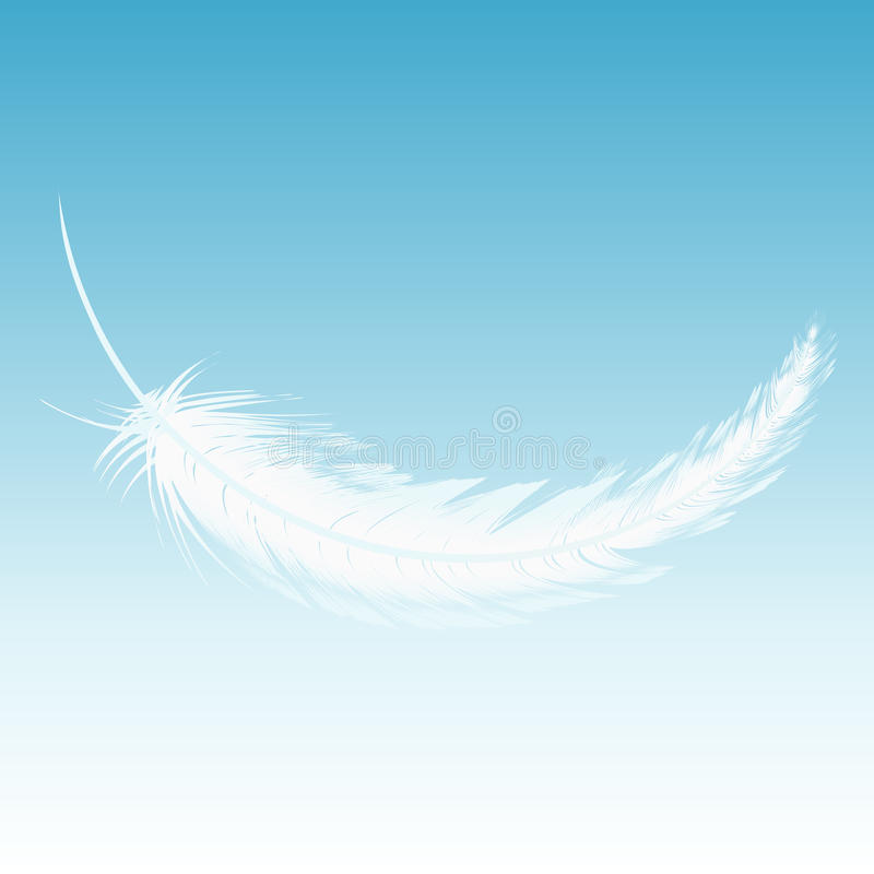 White feather fall from the sky royalty free illustration