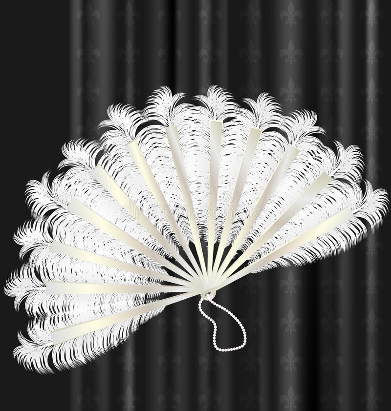 white feathers fan stock illustration