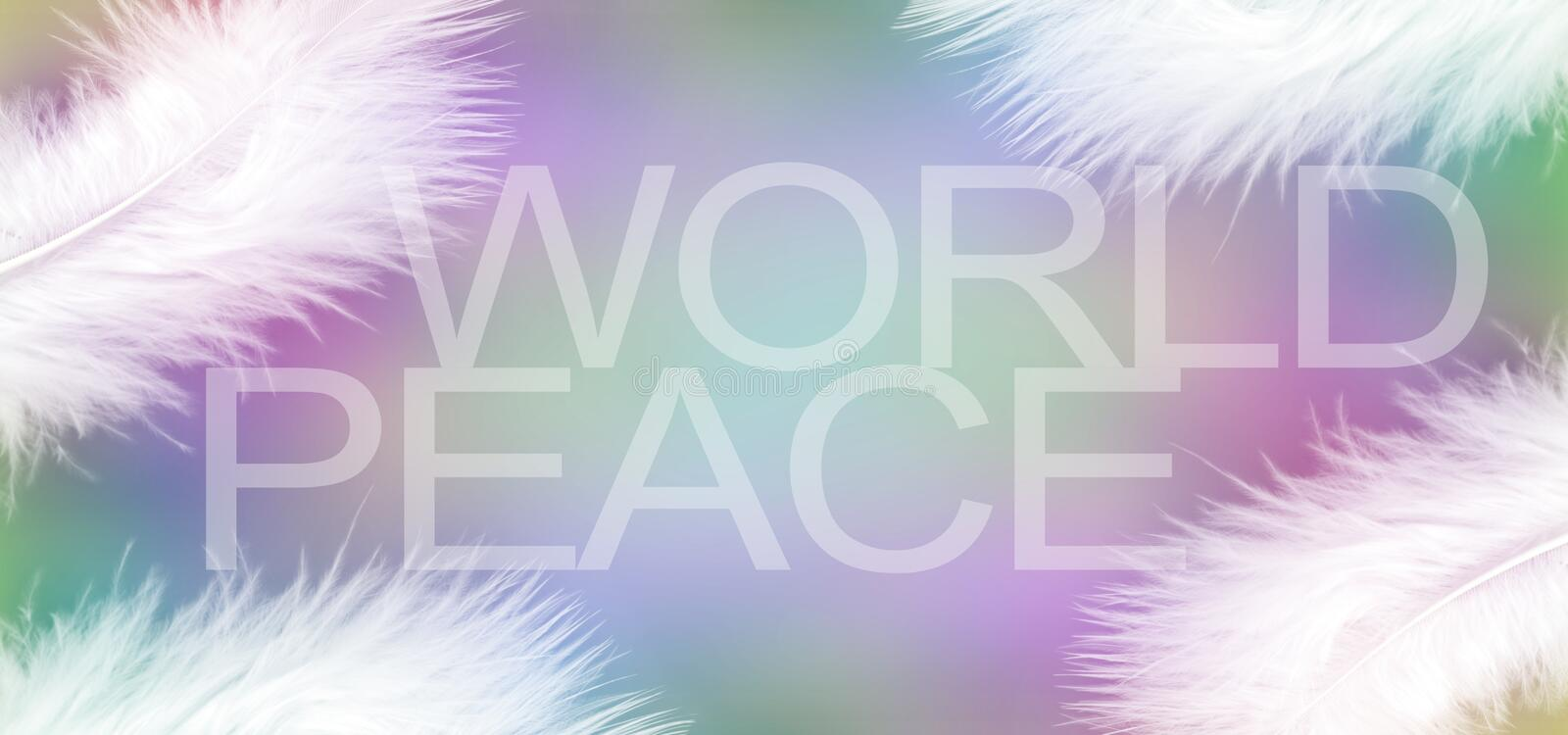 White feathers of Peace stock photo