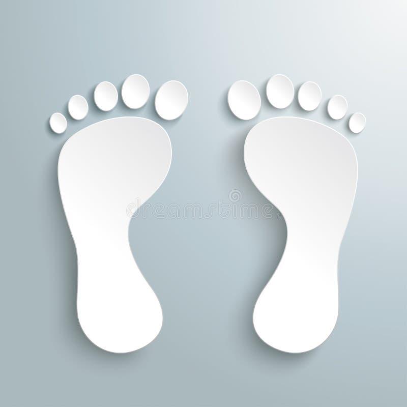 White Feet PiAd vector illustration