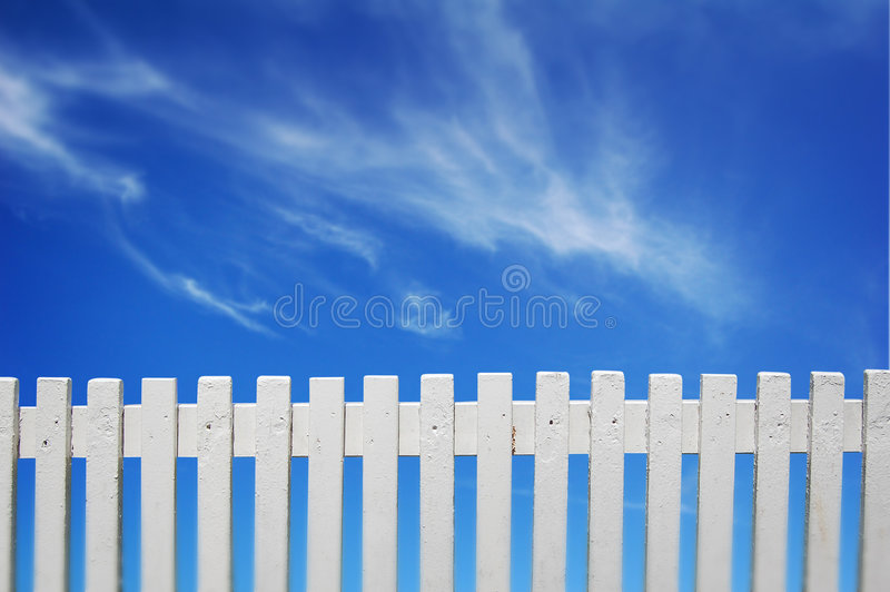 Download White Fence stock image. Image of clouds, garden, happy - 2754691