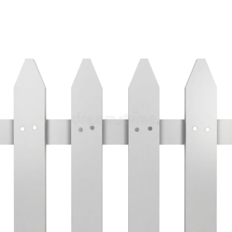 White fence vector illustration