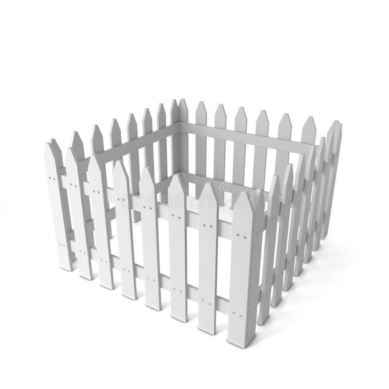 White fence royalty free illustration