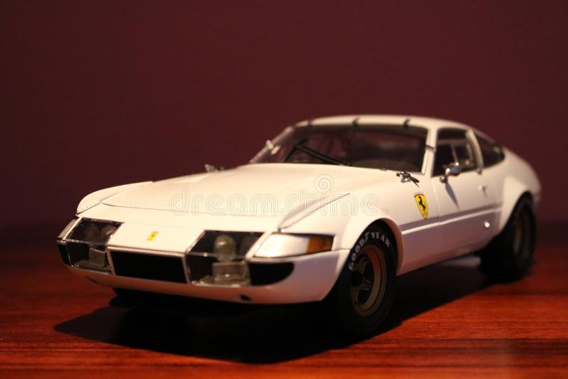 White Ferrari Daytona Competizione Die cast car model royalty free stock photography