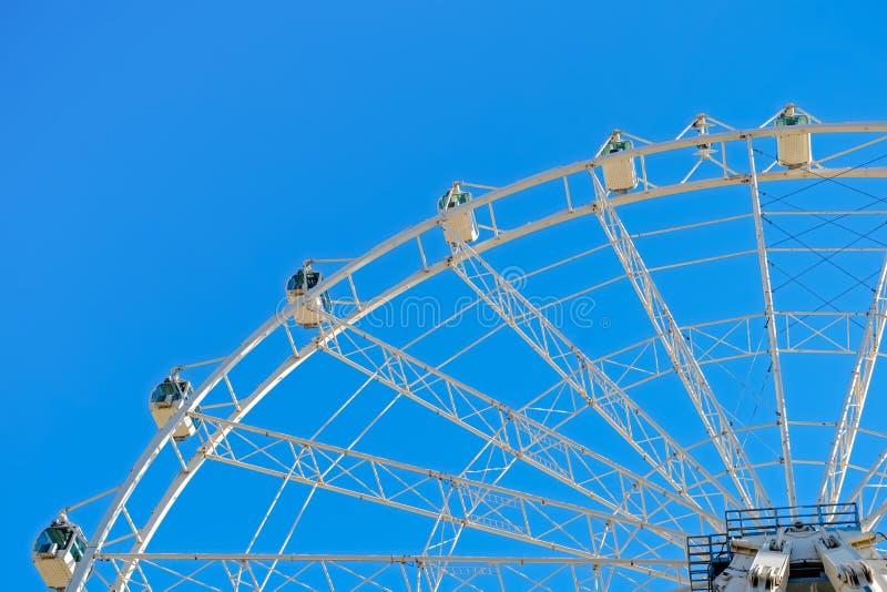 White ferris wheel. Malaga city, Spain stock images