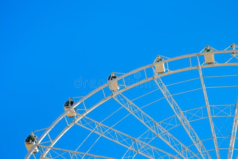 White ferris wheel. Malaga city, Spain stock image