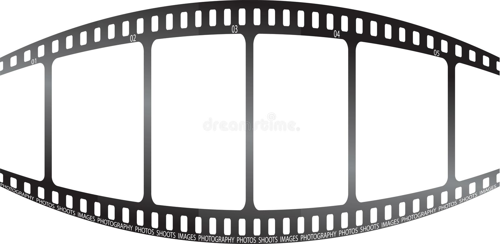 White film bulge. A film bulged in the middle ideal for place holder images vector illustration