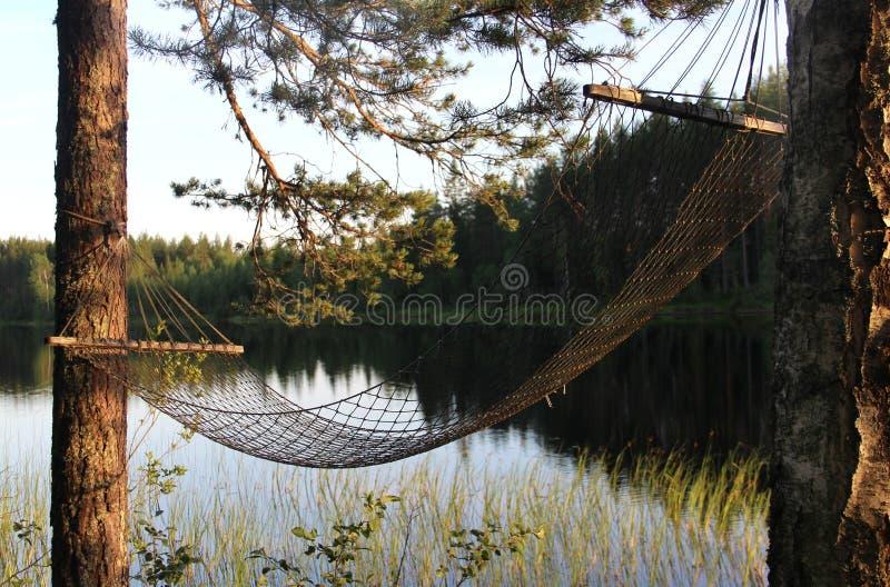 White Finnish nights, nature and lak. E, Karelia stock images