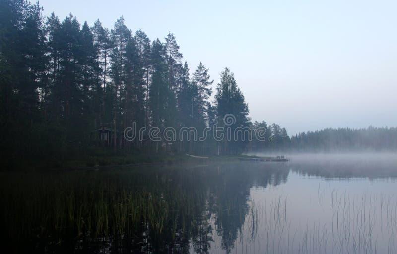 White Finnish nights, nature and lake. Karelia royalty free stock photography