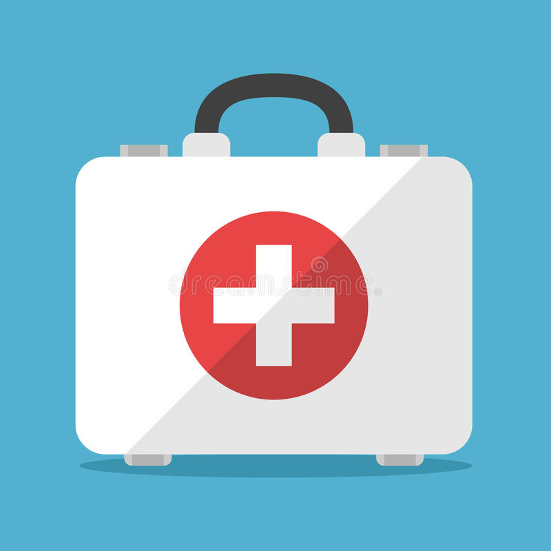 White first aid kit royalty free stock photo