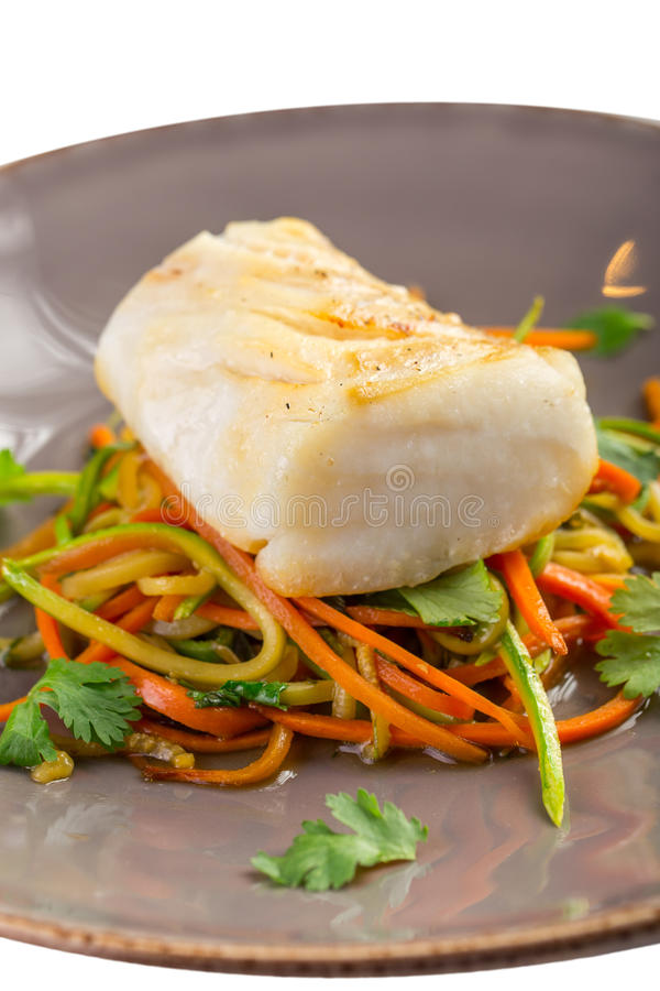 White fish fillet stock photography