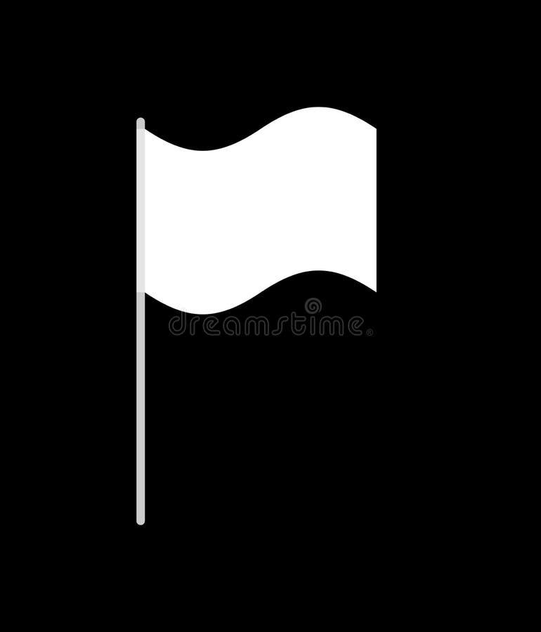 White flag isolated. surrender symbol. Vector illustration.  vector illustration