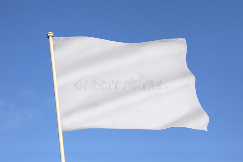 White Flag of Surrender - Business Metaphor royalty free stock photo