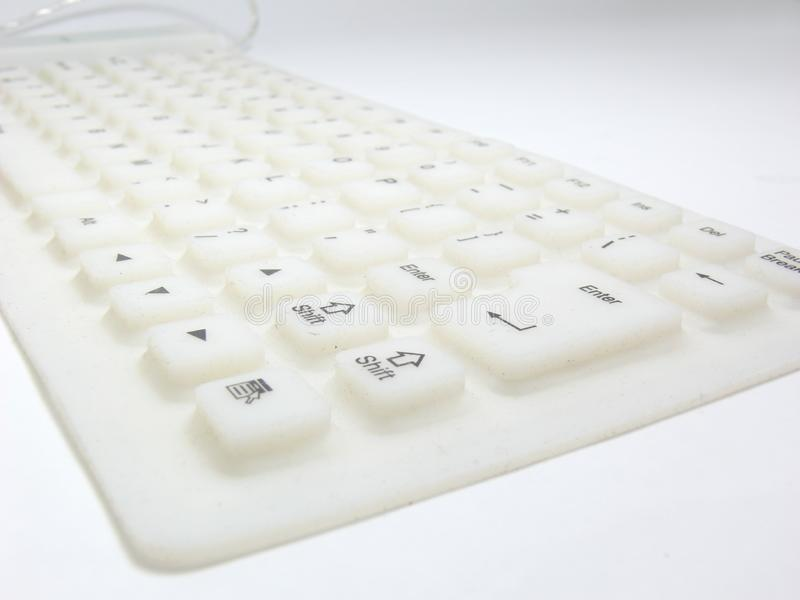 Download White flat rubber keyboard stock image. Image of enter - 8795383