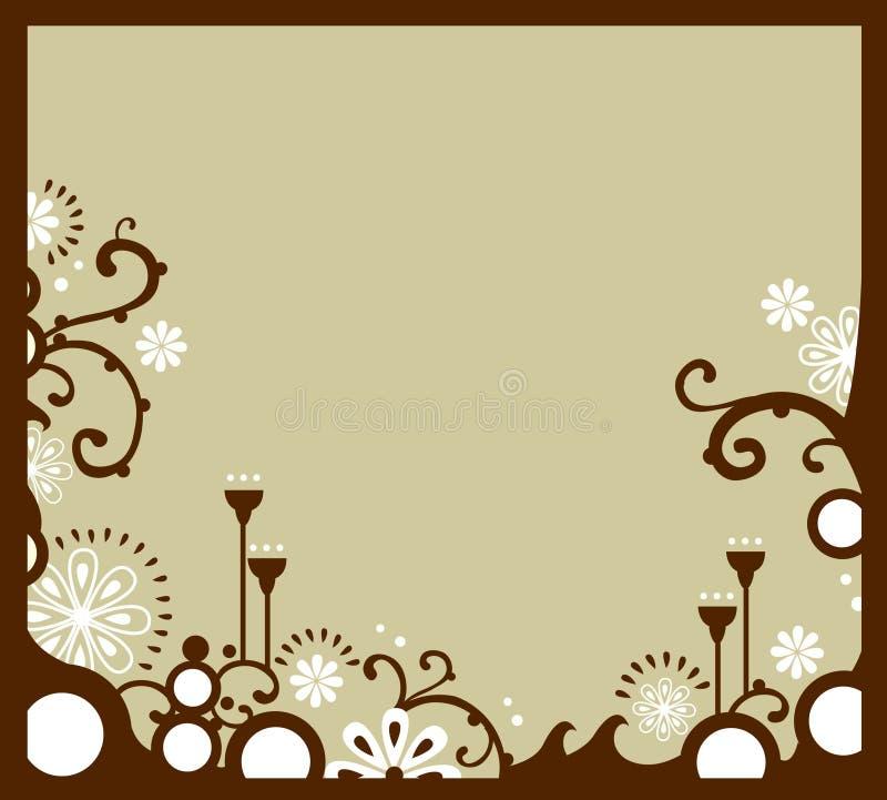 White floral border vector illustration