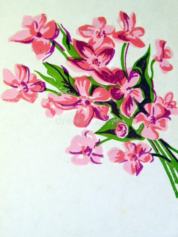 White floral wallpaper stock photo