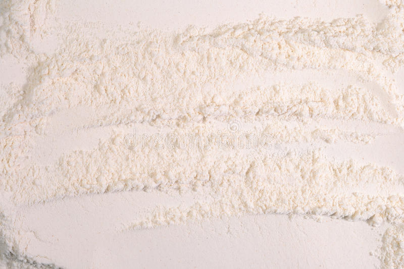 White flour background as background texture stock photo