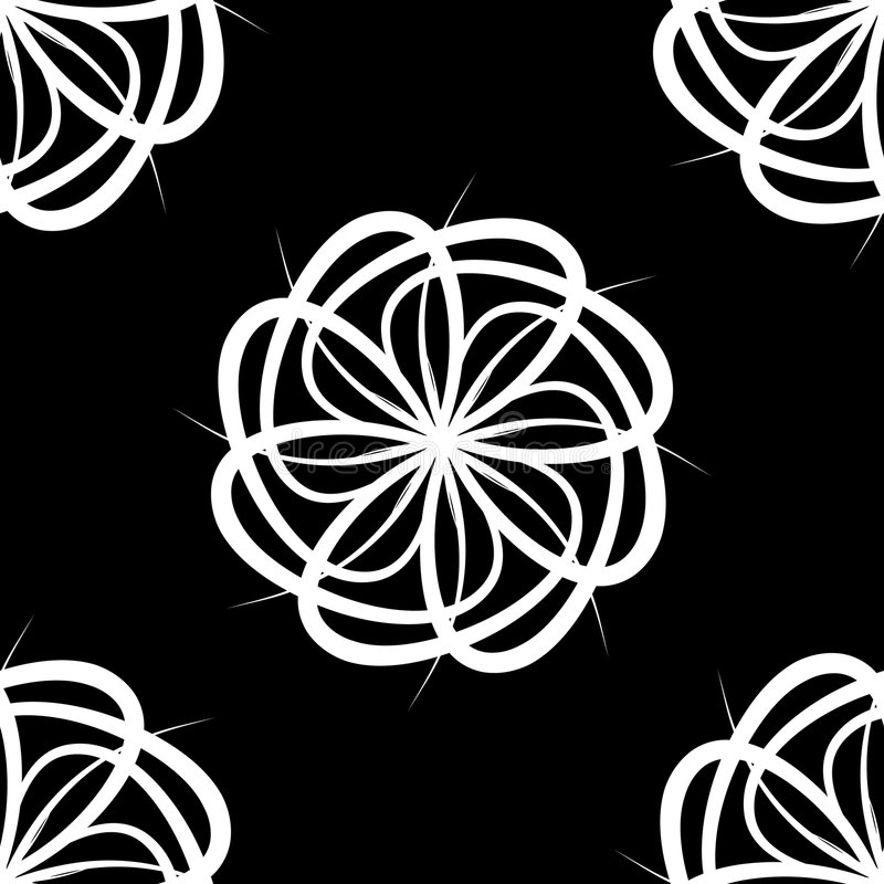 White Flower Pattern royalty free stock images