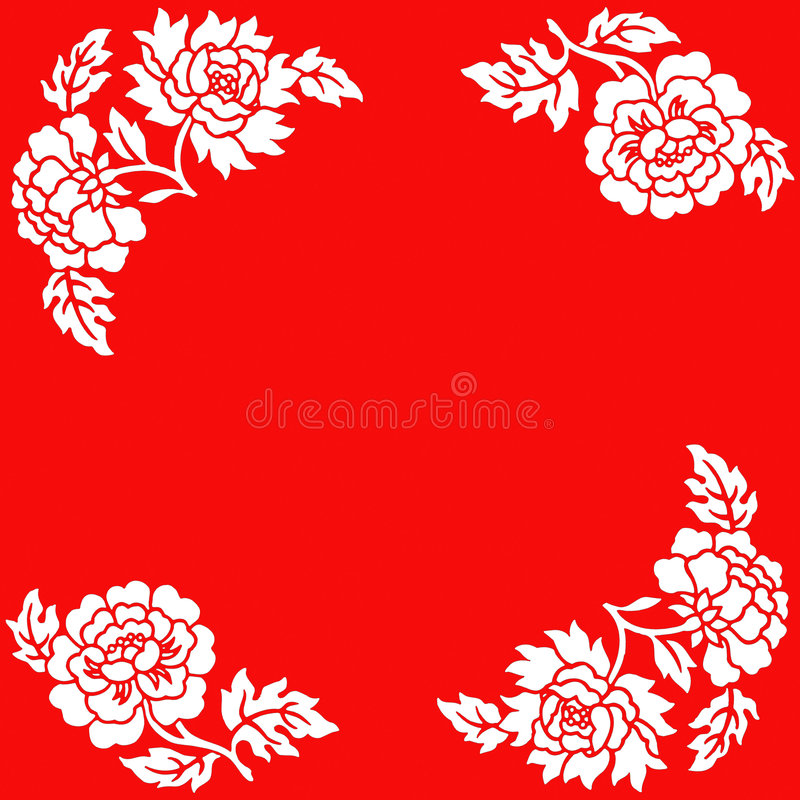 Chinese Paper Cut Flower Pattern Stock Images Download 65