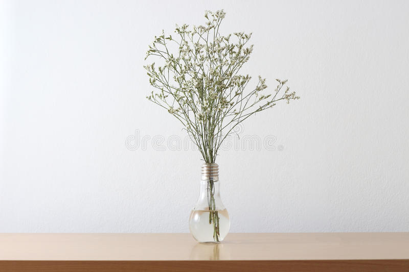 White flowers on table royalty free stock photos