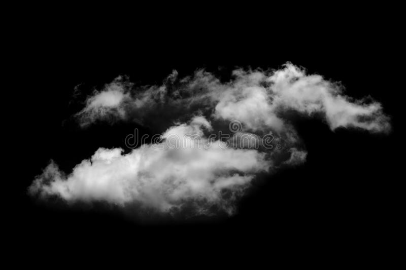 White fluffy clouds in the black sky background. royalty free stock photo
