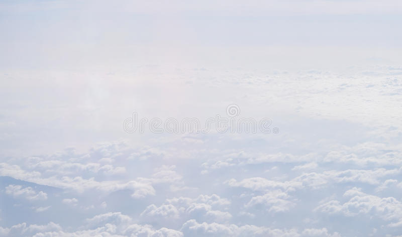 White fluffy clouds. Over sky with white fluffy clouds stock image