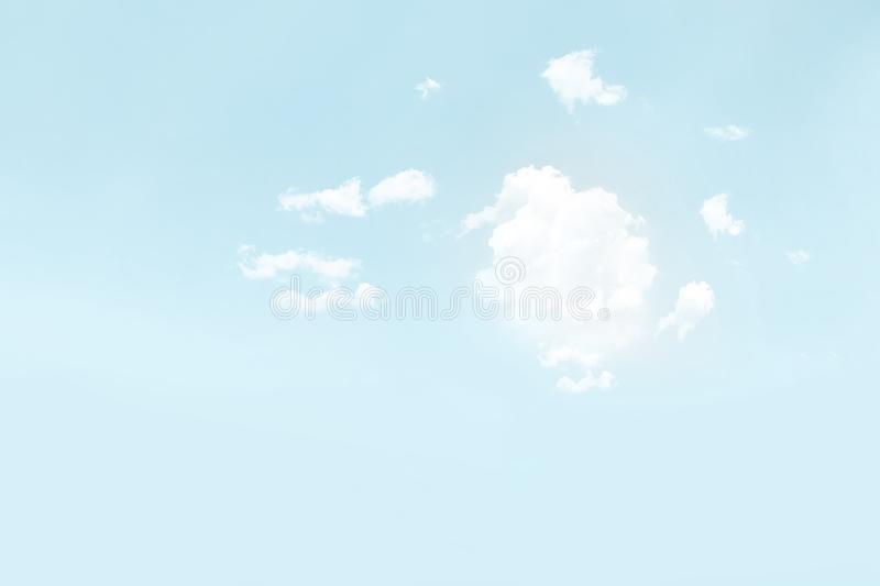 Clouds on a sky. White fluffy clouds on a sky stock photos