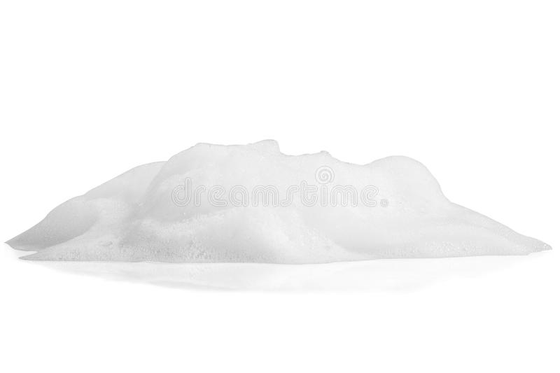White foam bubbles texture on white royalty free stock photography