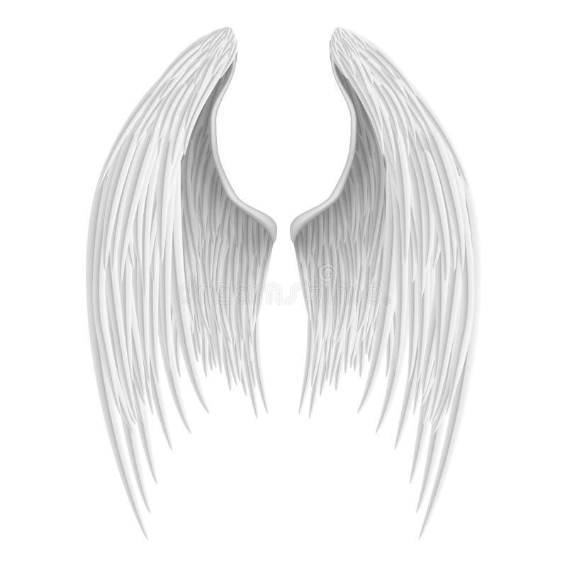 Free White Folded Angel Wings. Stock Photo - 45264830