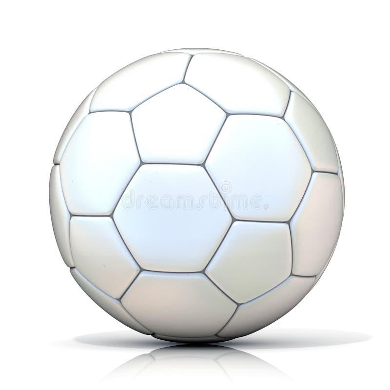 White football - soccer ball vector illustration