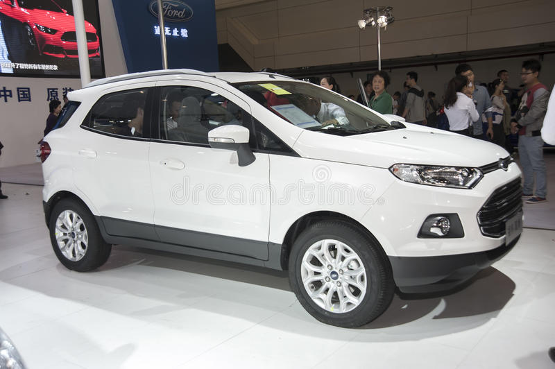 White ford ecosport car editorial stock image. Image of racing ...