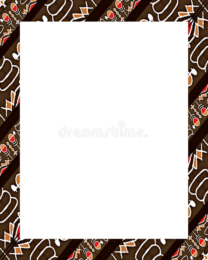 White Frame With Decorated Borders Stock Photo - Image of rectangle ...
