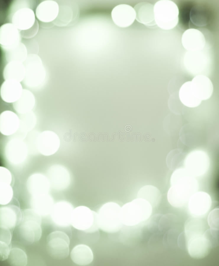 White frame bokeh lights stock photo