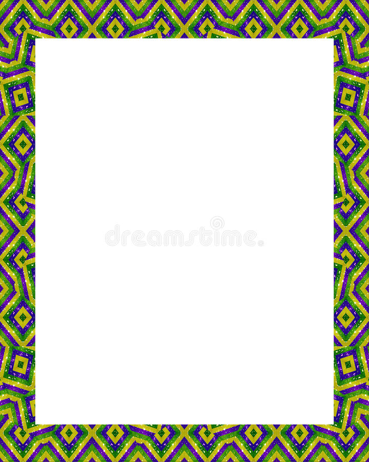 Download White Frame With Decorated Borders Stock Illustration - Image: 83704178