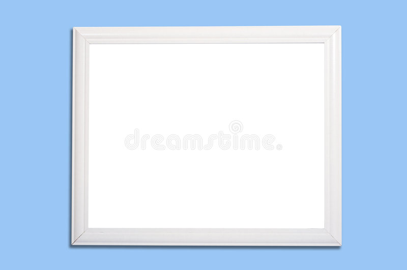 White Frame or marker board on Blue stock photography