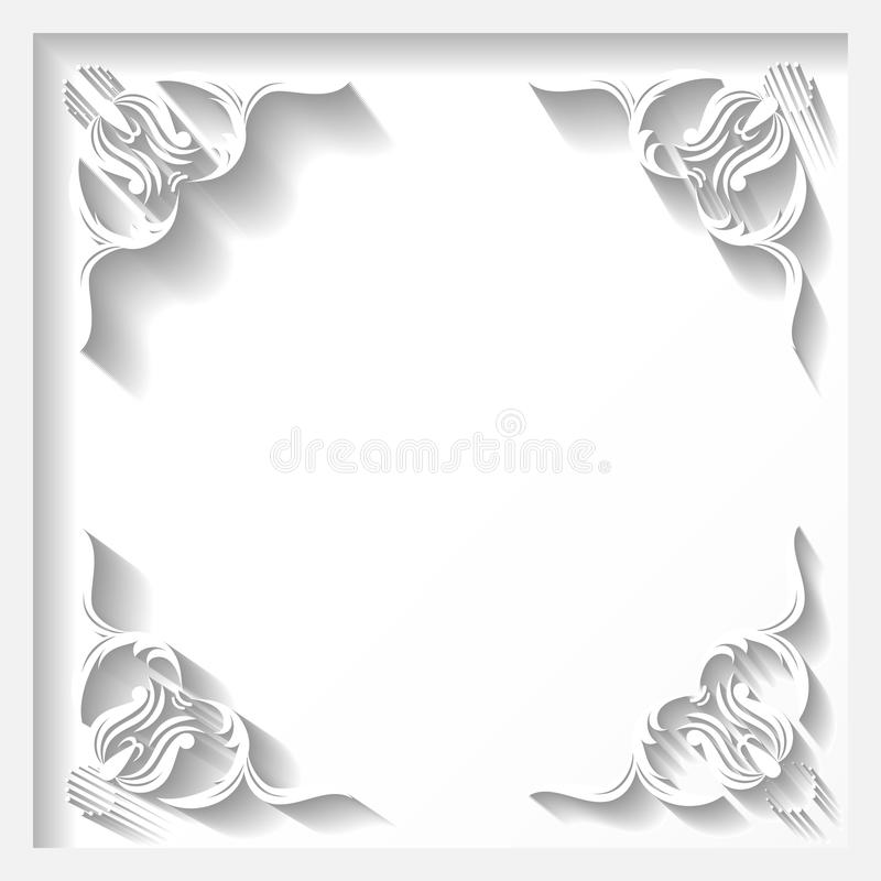 White Cut Paper Illustration: White Frame Stock Vector. Illustration Of Illustration