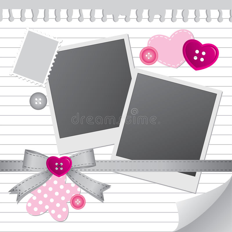 Download White frame for photos stock vector. Image of curly, dotted - 21452579